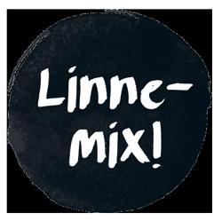 Bäddset Linnemix 150x200 cm Havsblå