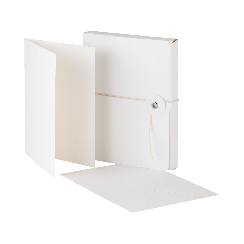 Kort Kuvert 10-pack Vit