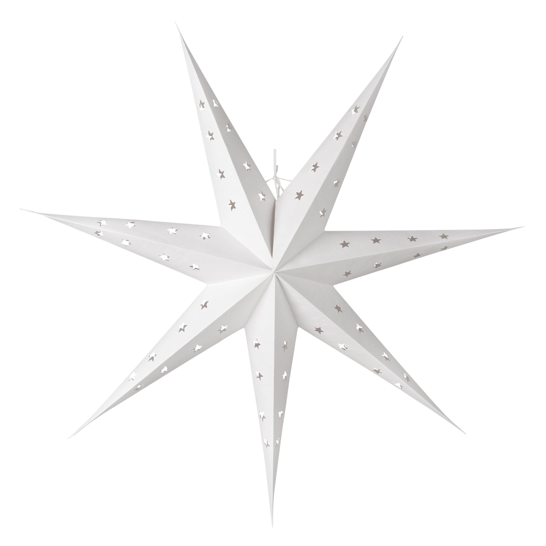 Stjärna Vit 80cm 7udd
