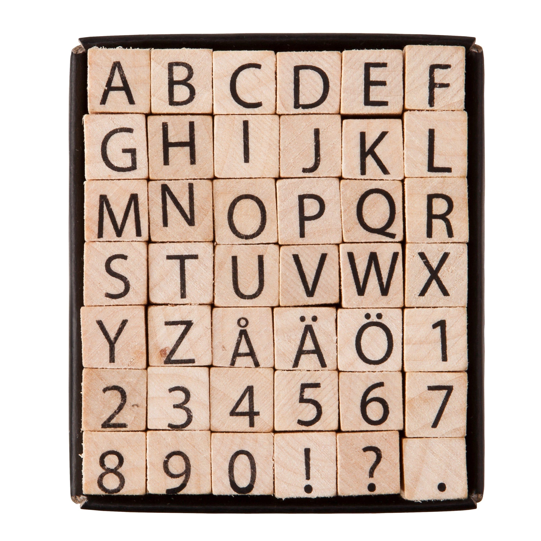 Stämplar Alfabet Små