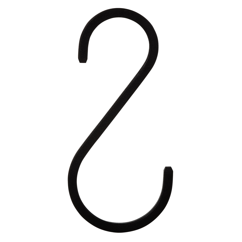 S-krok Järn 10 cm Svart