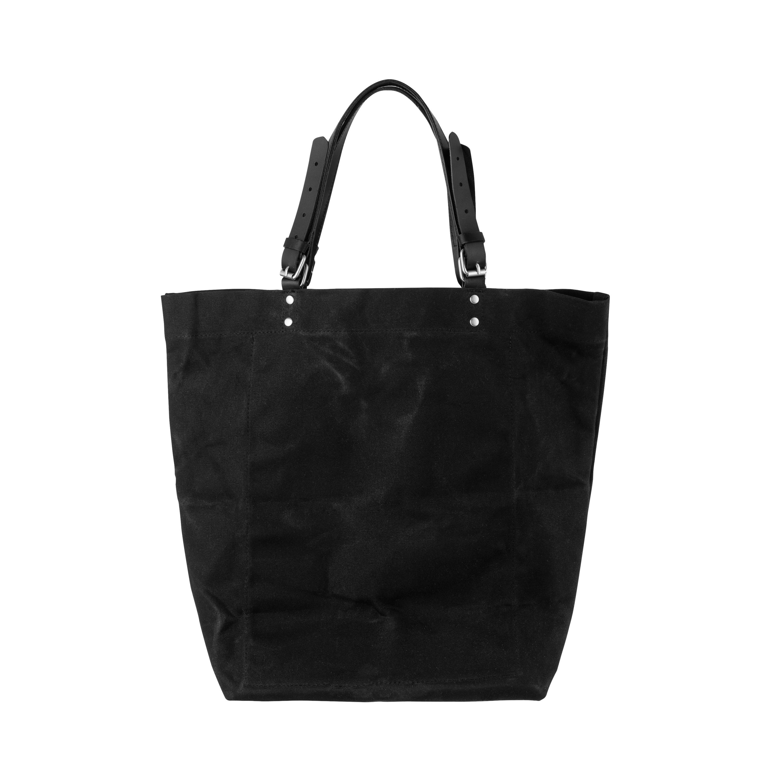 Shopper Vaxad Canvas/Läder Svart
