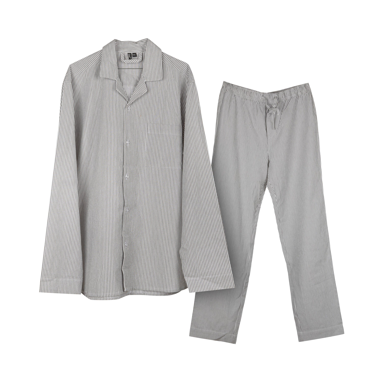Pyjamas Rand Grå M/L