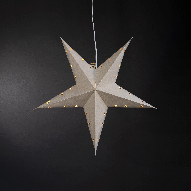 Stjärna 60cm Ljusgrå