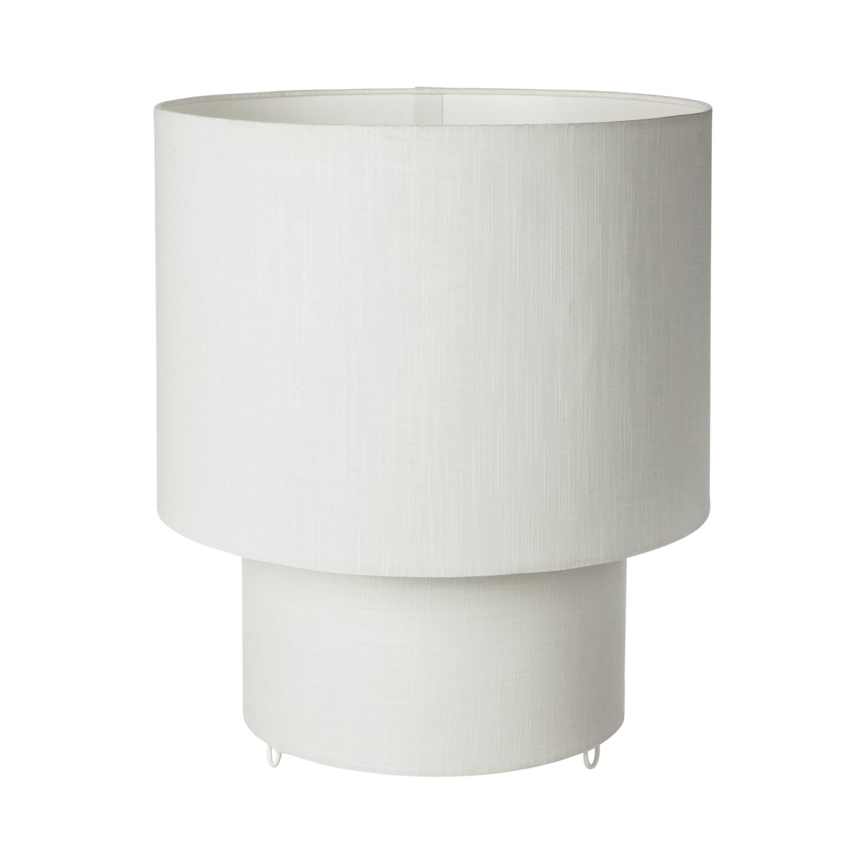 Bordslampa Linne Ø 35x39 Vit