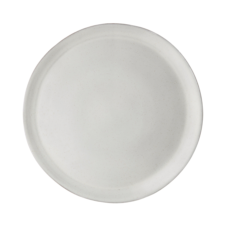 Serveringsfat Glaserad Offwhite