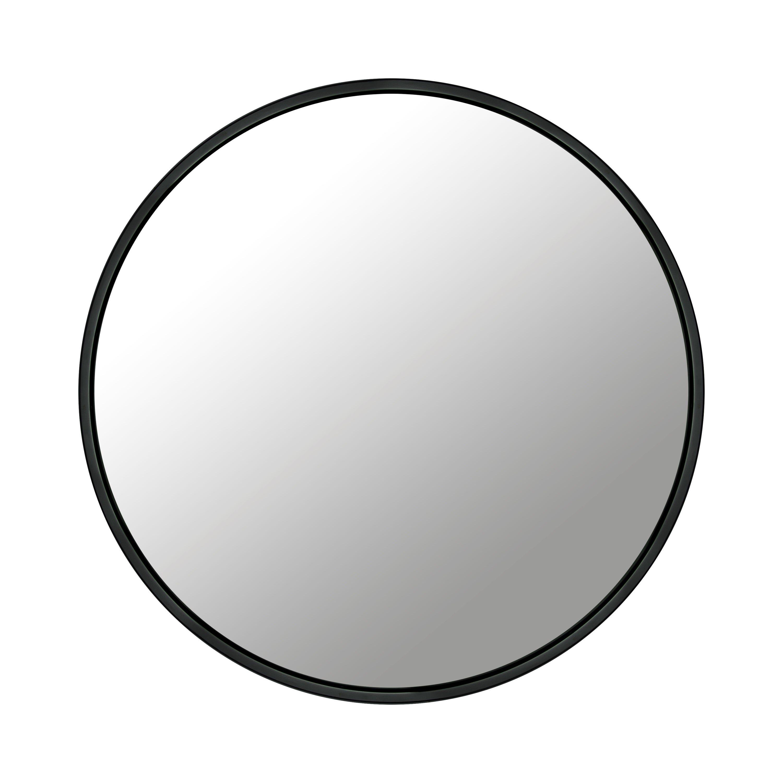 Spegel Rund Svart