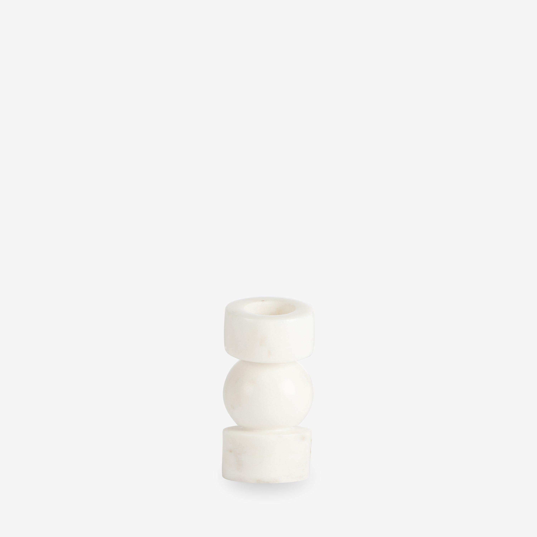 Ljusstake Marmor 7,5 cm Vit