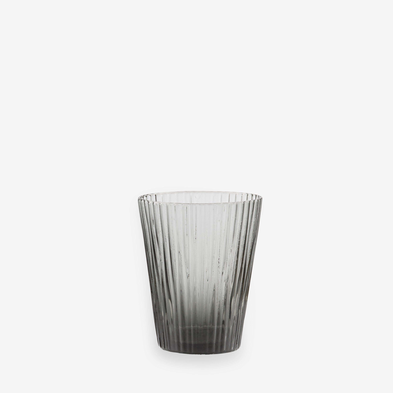 Glas Räffla 26cl Grå