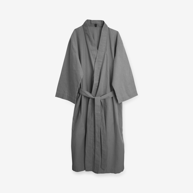 Kimono Linnemix Onesize Grå