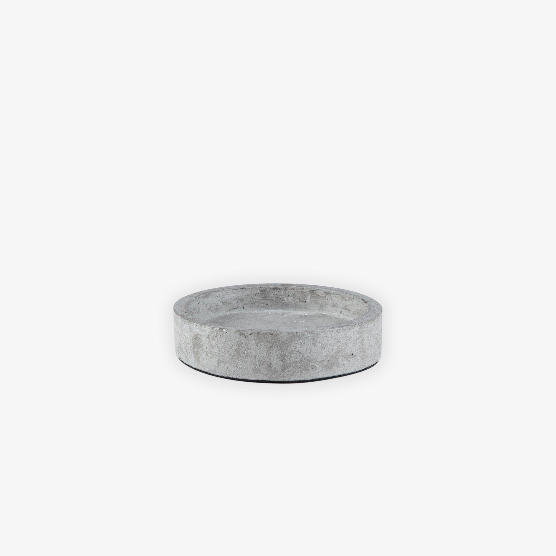 Ljusfat Cement Ø11 cm Mörkgrå