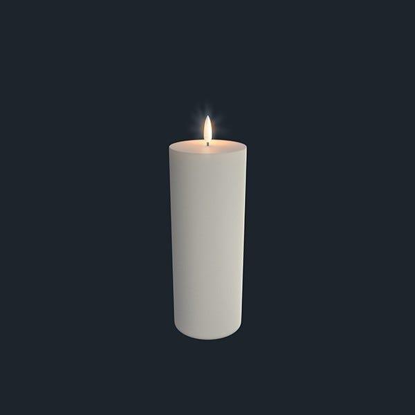 UYUNI Pelarljus LED - IVORY - 7,8 x 23,1 CM