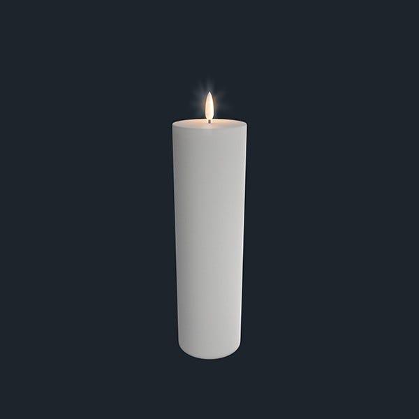 UYUNI Pelarljus LED - Vit - 7,3 x 25 CM