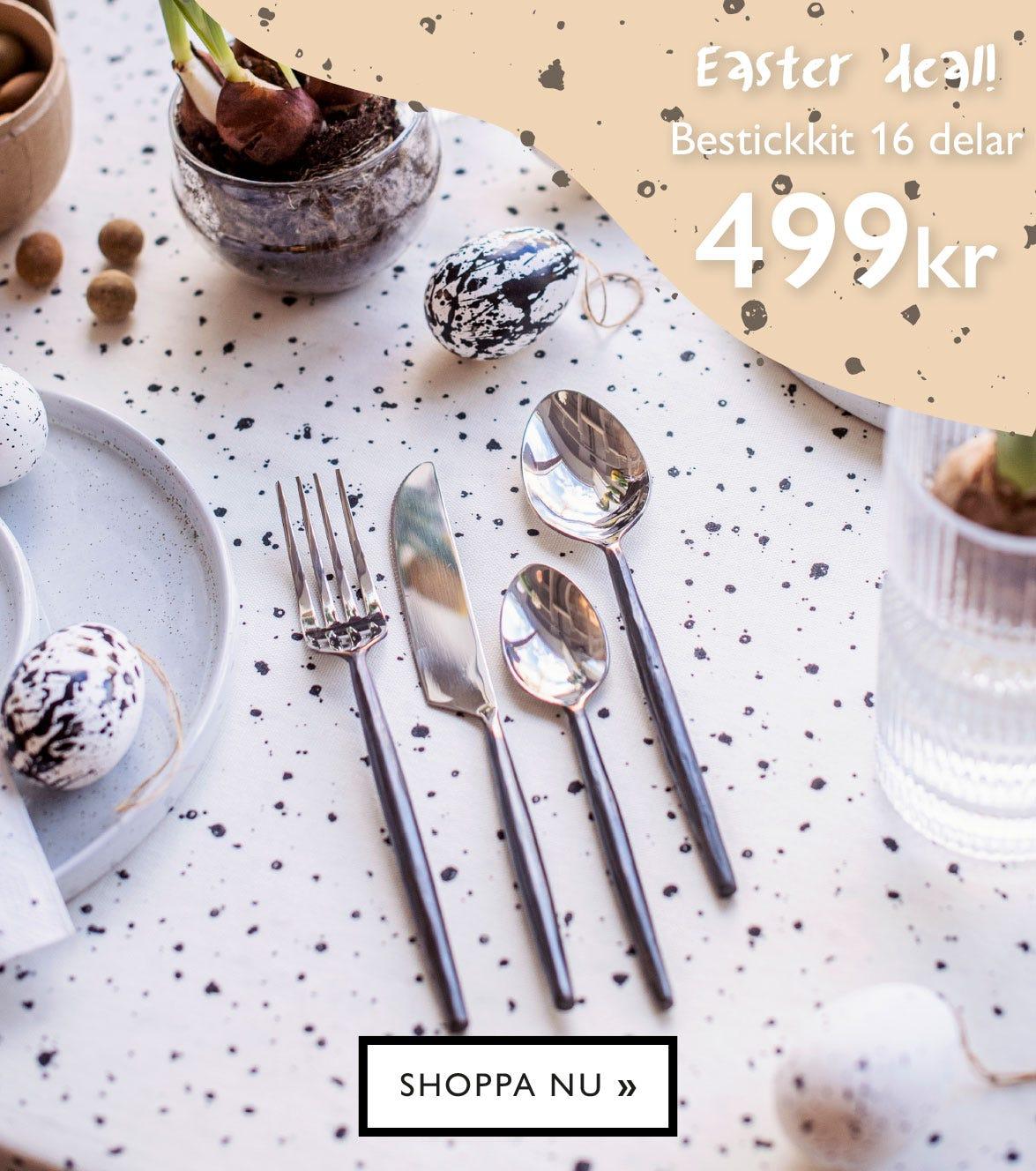 Easter deal! Bestickkit 16 delar 499 kr