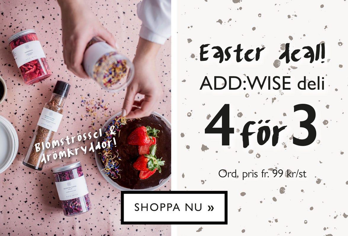 Easter Deal! ADD:WISE deli - mixa och matcha dina favoriter - Köp 4 betala för 3