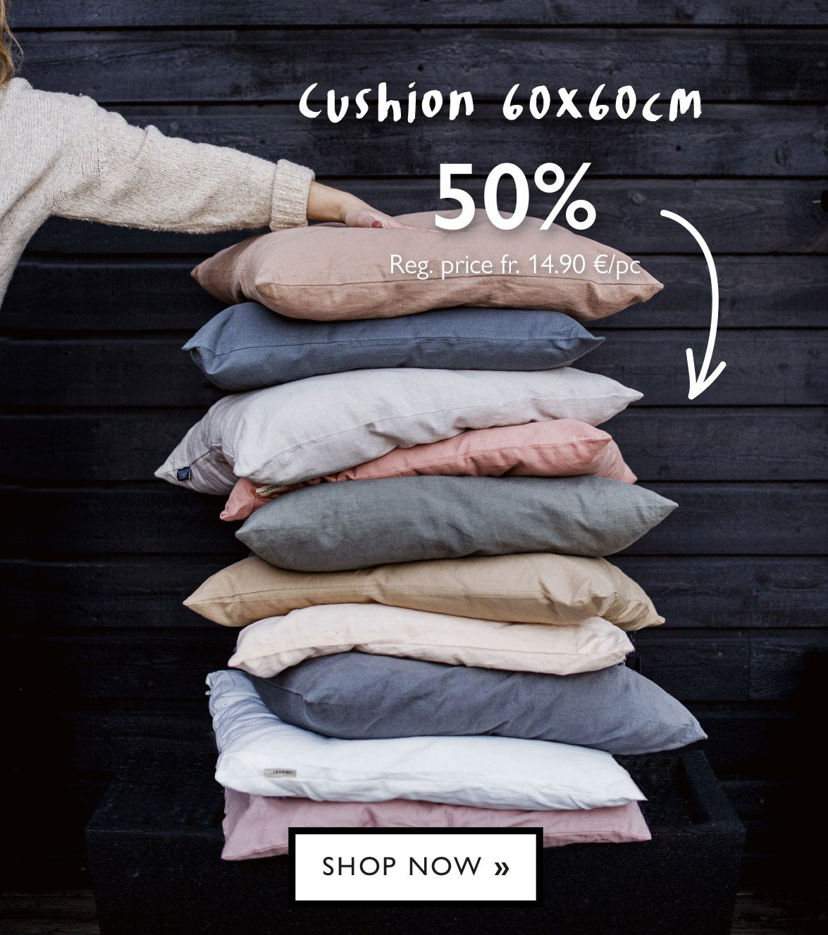 Cushion 60x60 cm - 50% off