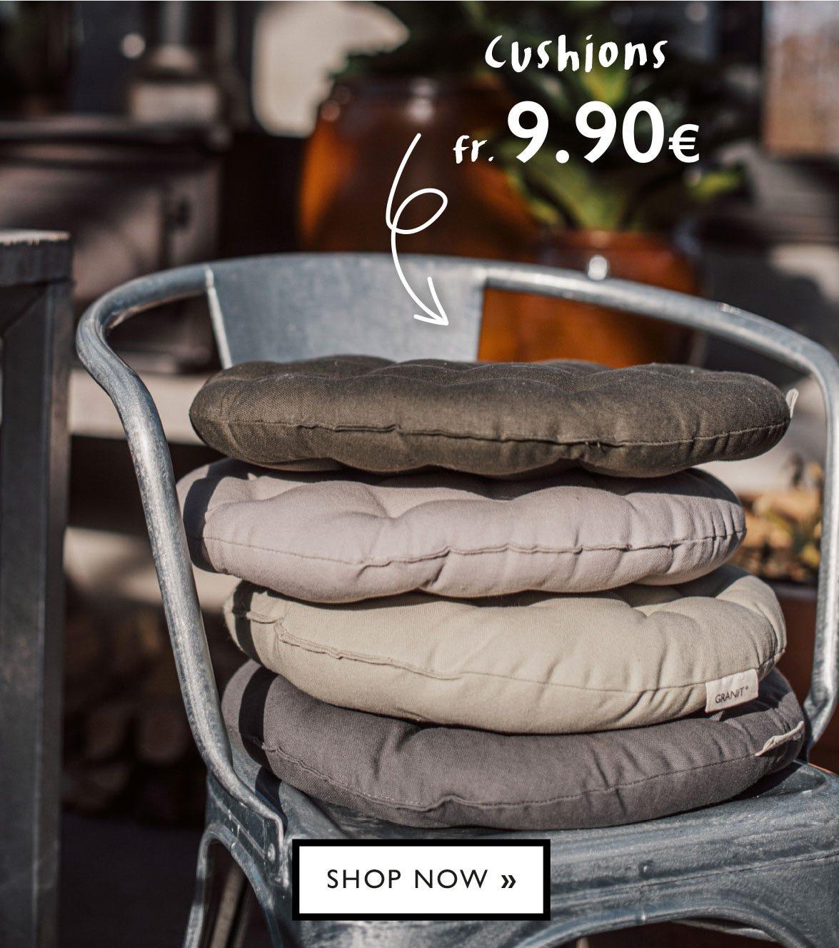 Seat cushions fr. 9.90 €