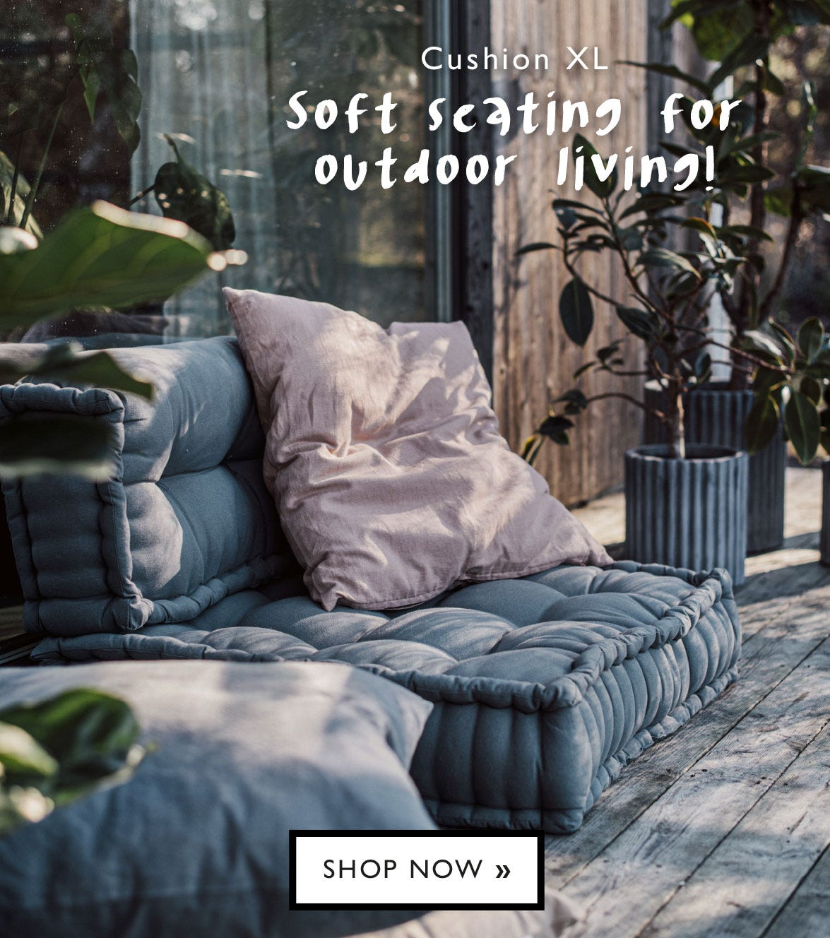 Soft seating for outdoor living!