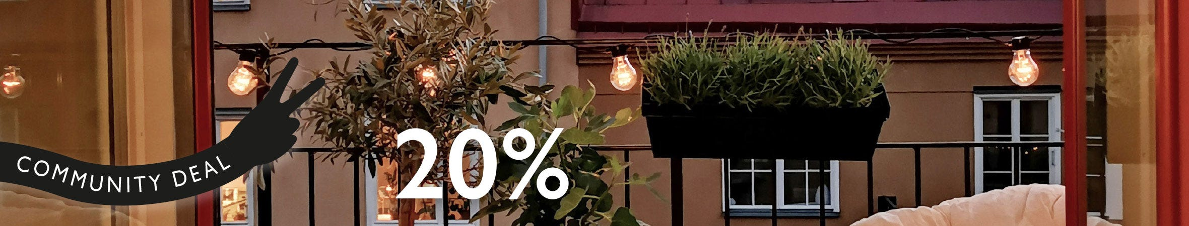 Balkonglåda och kruka zink 20% rabatt