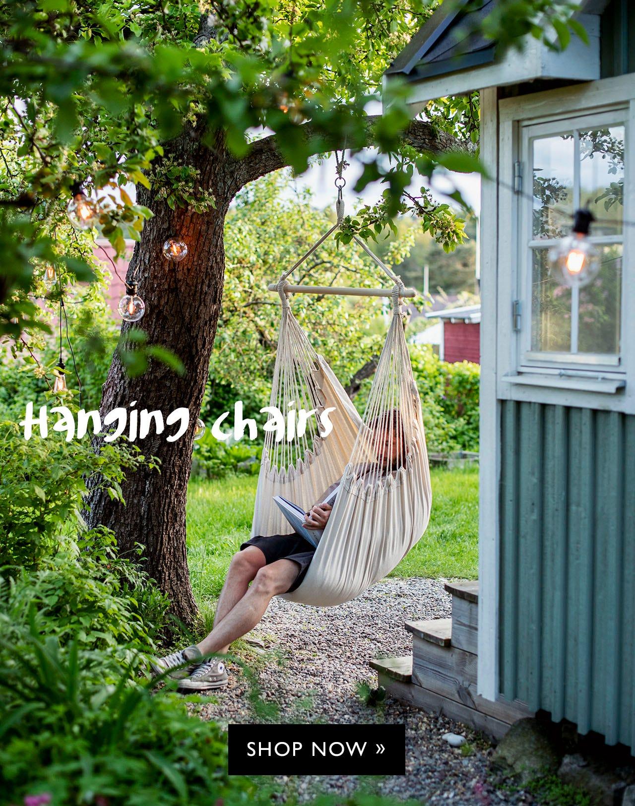 Hammocks, aning chairs, hanging hammocks
