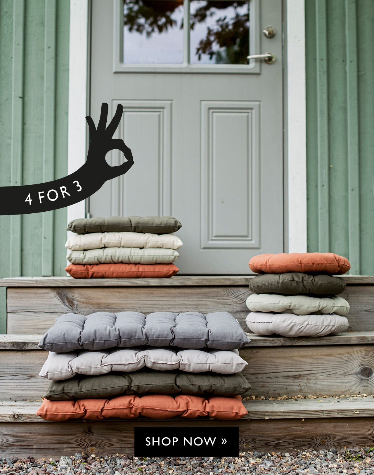 Member deal - 4 for 3 on outdoor cushions
