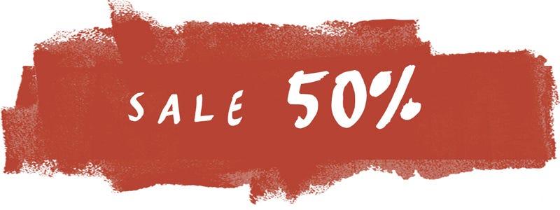 Sale 50%!